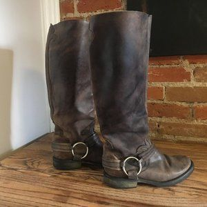Knee Leather Boot